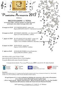 Locandina poetiche armonie 2013