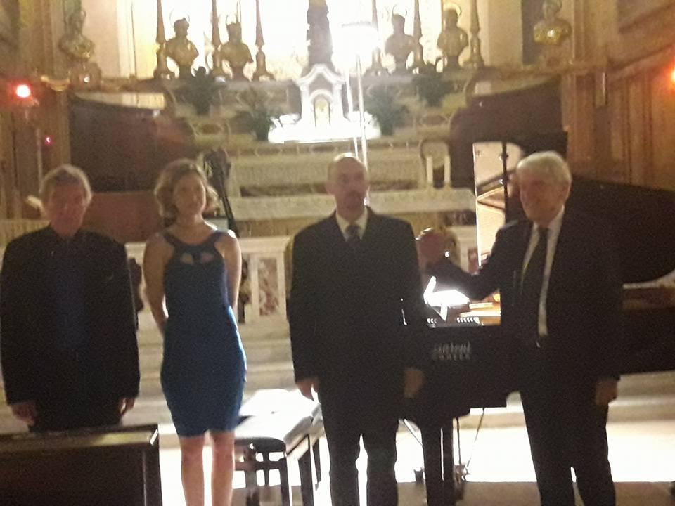 da sx Gabriel Tacchino, Emmanuelle Stephan, Marco Podestà, Giuseppe Fricelli