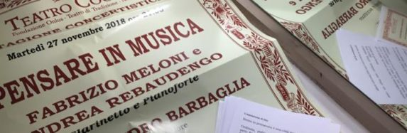 DUO MELONI/REBAUDENGO – Teatro Coccia Novara 27 nov. 2018